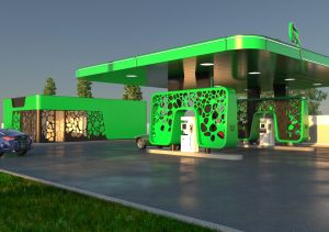 CNG-tankstation in Roemenië